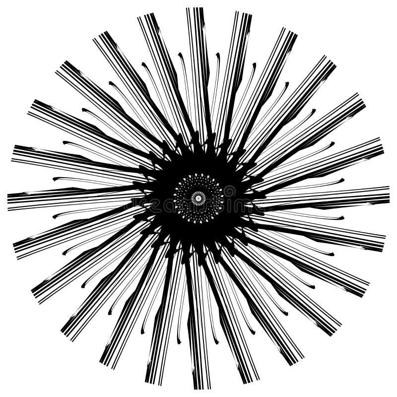 Download Абстрактный геометрический круговой элемент Излучать скачками форму Иллюстрация вектора - иллюстрации насчитывающей наконечников, радиально: 81813976