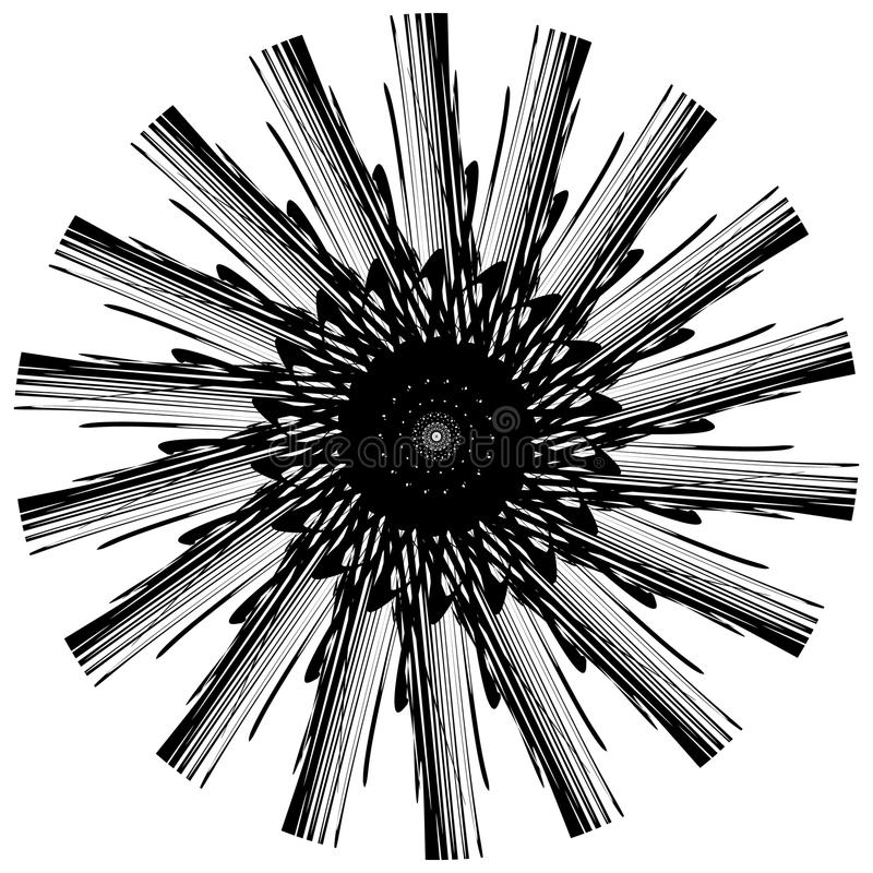 Download Абстрактный геометрический круговой элемент Излучать скачками форму Иллюстрация вектора - иллюстрации насчитывающей пересекать, график: 81813995