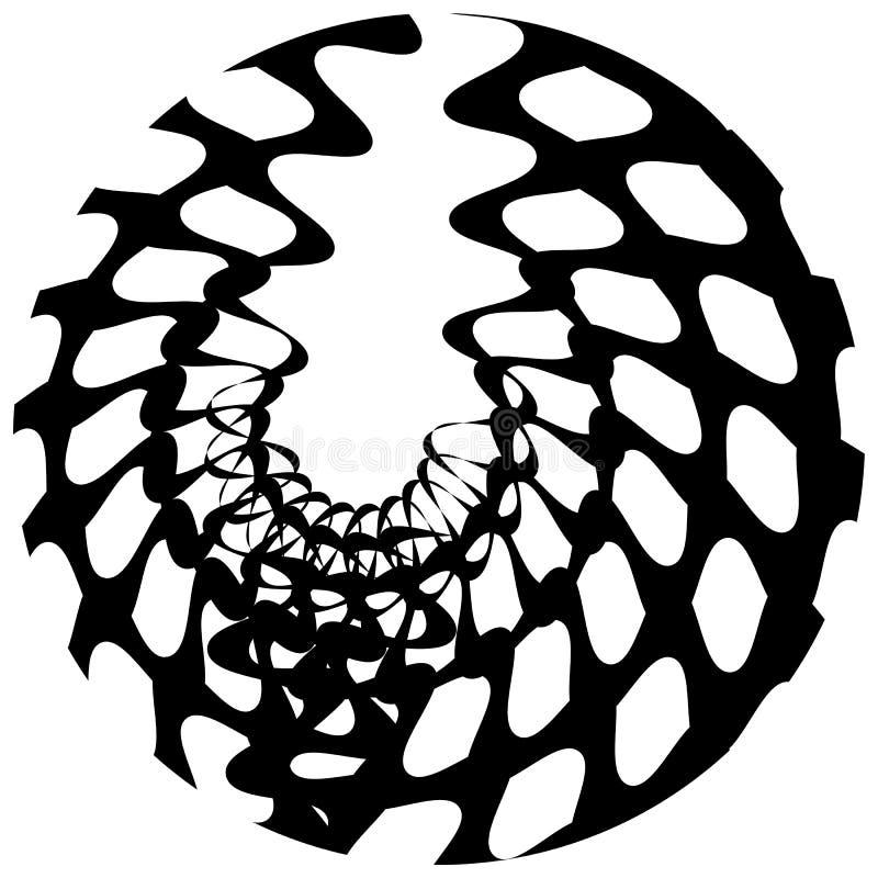 Download Абстрактный геометрический круговой элемент Излучать скачками форму Иллюстрация вектора - иллюстрации насчитывающей иллюзорно, радиально: 81814009