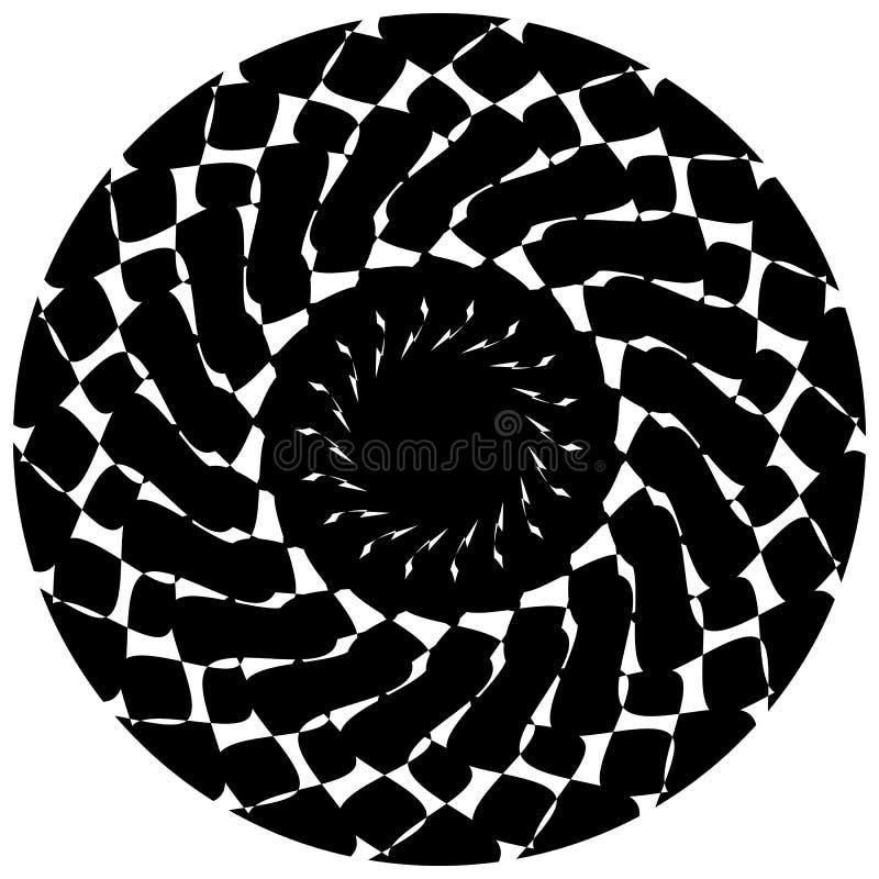 Download Абстрактный геометрический круговой элемент Излучать скачками форму Иллюстрация вектора - иллюстрации насчитывающей вращение, кругово: 81814086