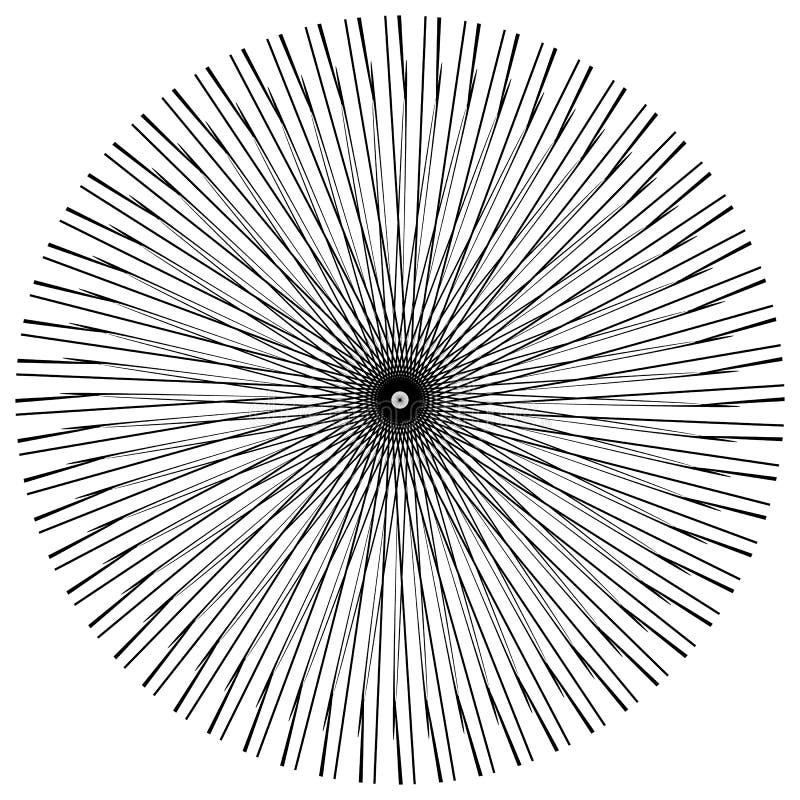 Download Абстрактный геометрический круговой элемент Излучать скачками форму Иллюстрация вектора - иллюстрации насчитывающей элемент, наконечников: 81814174