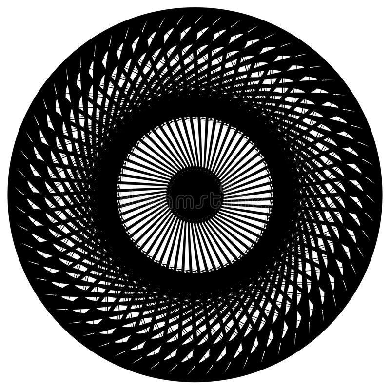 Download Абстрактный геометрический круговой элемент Излучать скачками форму Иллюстрация вектора - иллюстрации насчитывающей кругло, излучать: 81814183