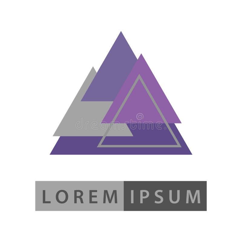 Абстрактный геометрический логотип дизайна вектора форм стоковые фотографии rf