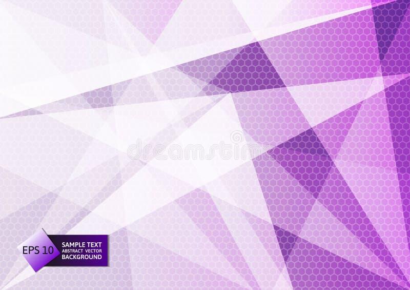 Абстрактный геометрический фиолетовый и белый цвет, предпосылка современного дизайна с космосом экземпляра, иллюстрацией eps10 ве бесплатная иллюстрация