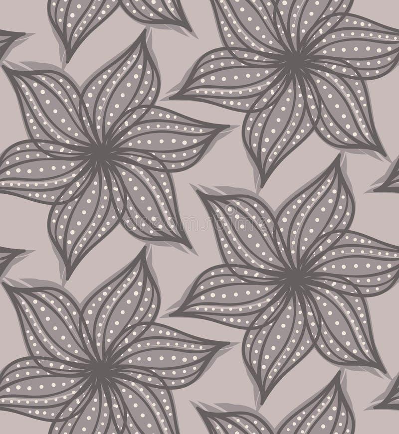 Абстрактный геометрический цветок с заострёнными педалями с точками на ligh иллюстрация вектора
