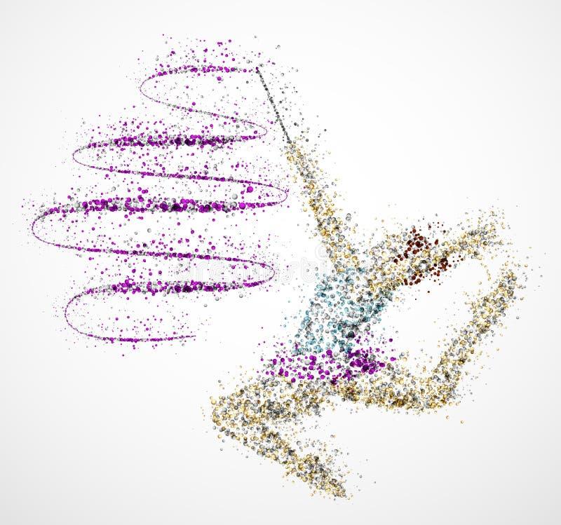 абстрактный гимнаст бесплатная иллюстрация