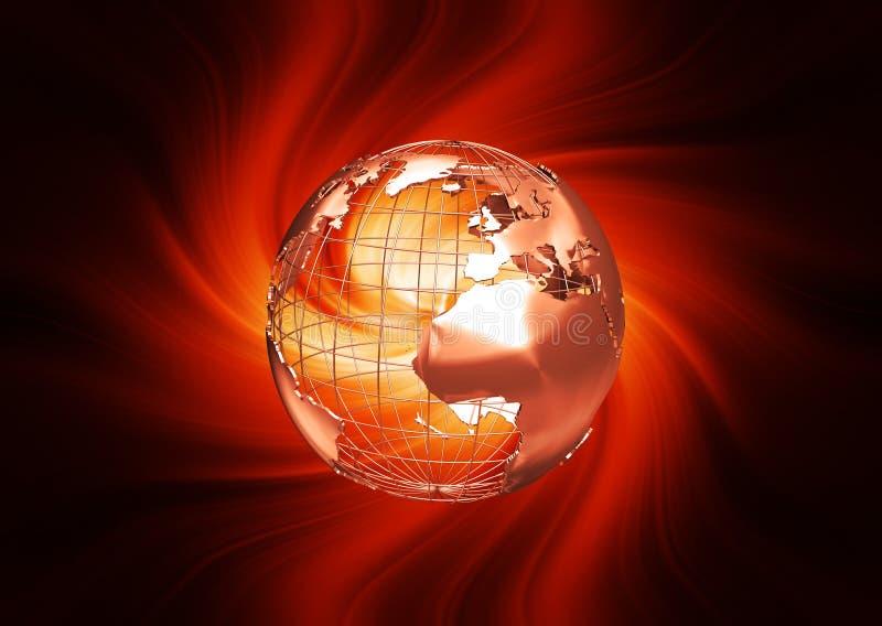 абстрактный глобус иллюстрация вектора