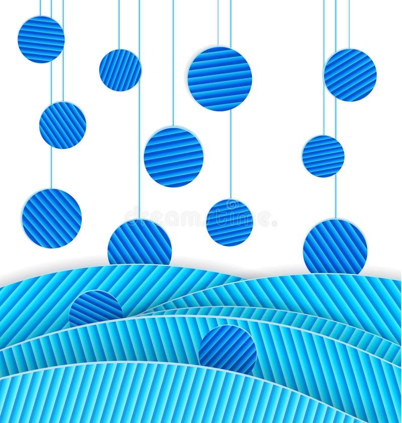 Абстрактный голубой вектор многоточий иллюстрация штока