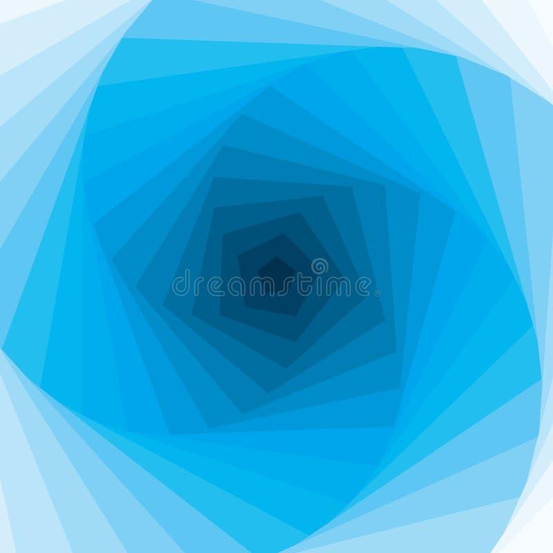 абстрактный голубой вектор свирли иллюстрация вектора