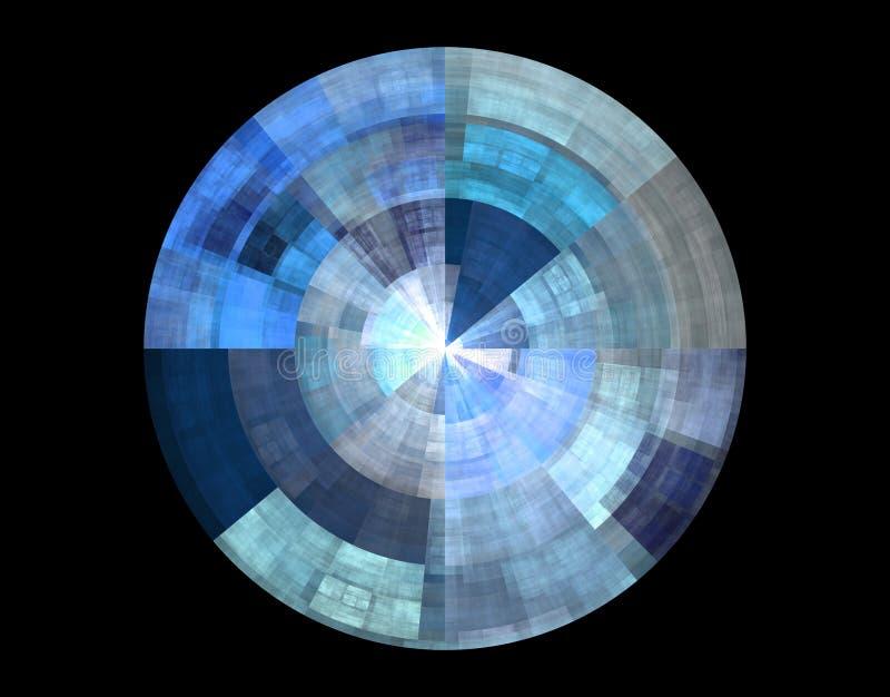 абстрактный голубой диск иллюстрация штока
