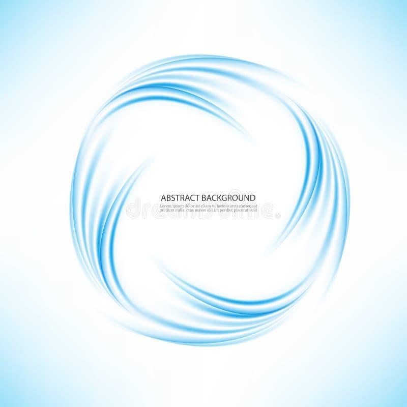 Абстрактный голубой круг свирли на прозрачной предпосылке Иллюстрация вектора для вас современный дизайн Круглые рамка или знамя иллюстрация вектора