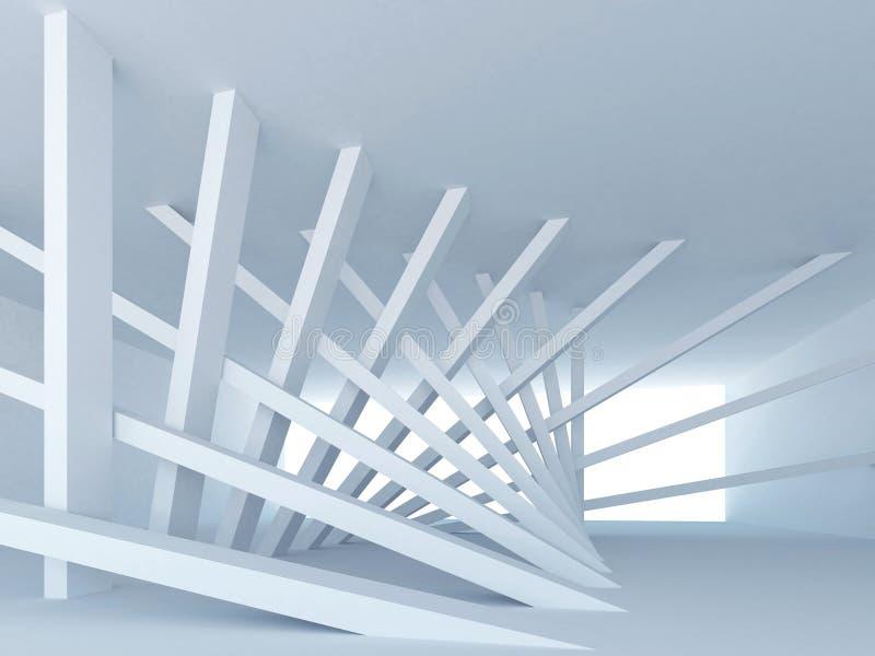 абстрактный голубой опрокинутый корридор колонок бесплатная иллюстрация
