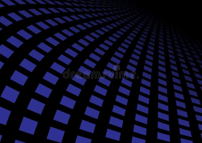 абстрактный голубой хайвей иллюстрация штока