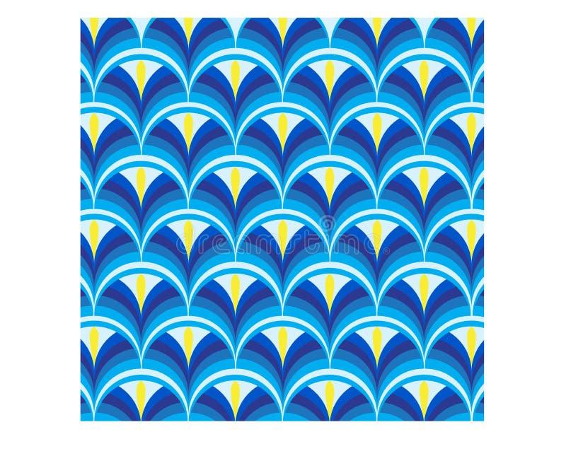 Абстрактный голубой цветок с голубой предпосылкой иллюстрация вектора