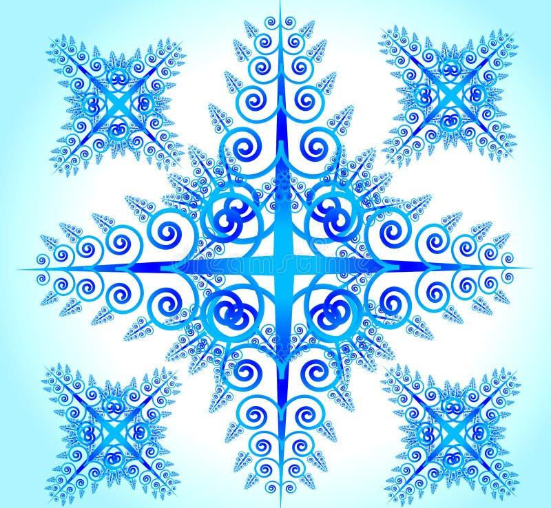 абстрактный голубой цветок иллюстрация штока