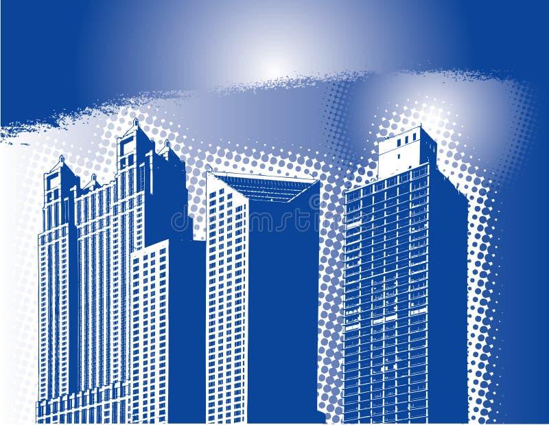 абстрактный горизонт города иллюстрация вектора