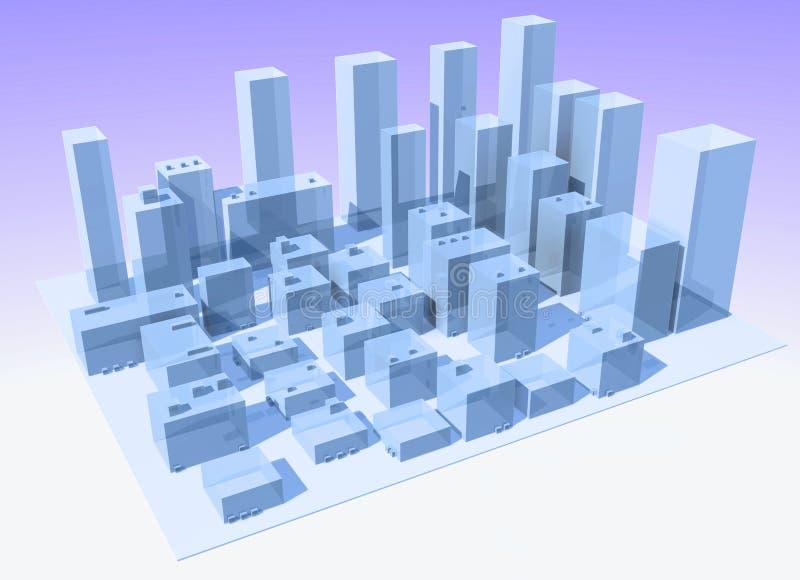 абстрактный город
