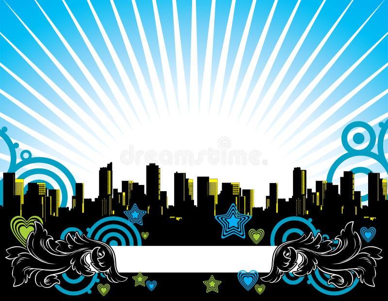 абстрактный город иллюстрация вектора