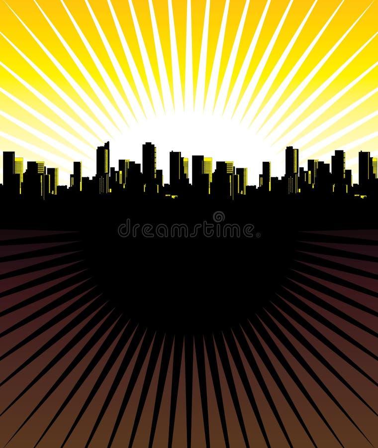 абстрактный город бесплатная иллюстрация