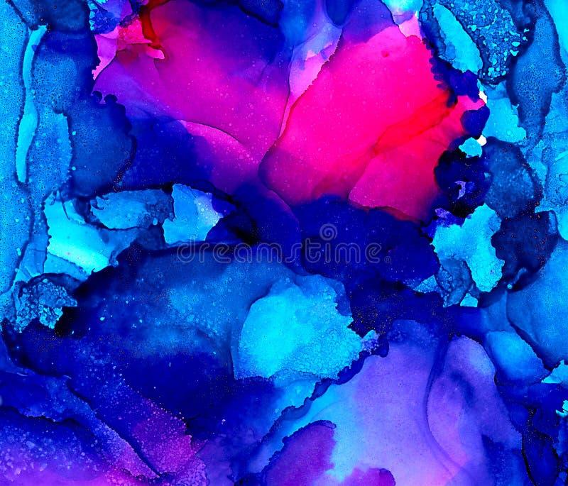Абстрактный горячий пинк и яркая синь бесплатная иллюстрация