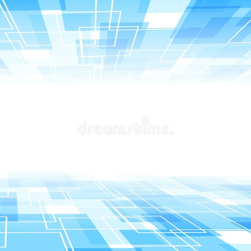 Абстрактный голубой шаблон предпосылки перспективы плитки иллюстрация штока