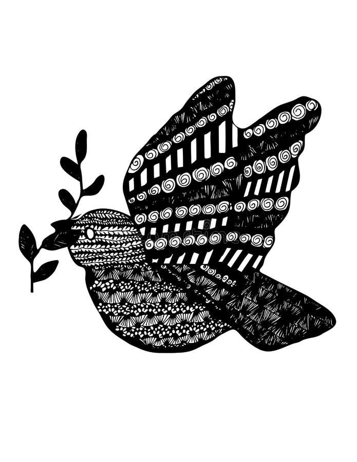 Абстрактный голубь бесплатная иллюстрация