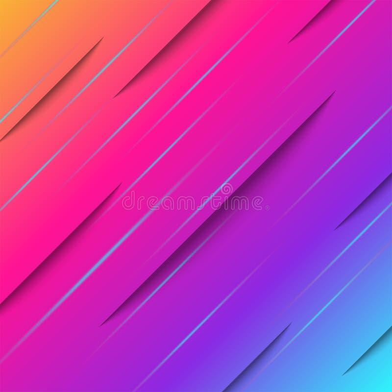Абстрактный градиент минимальный фон стиля, баннер, векторный дизайн плаката или листовки, динамически ярко-химический эффект рез иллюстрация вектора