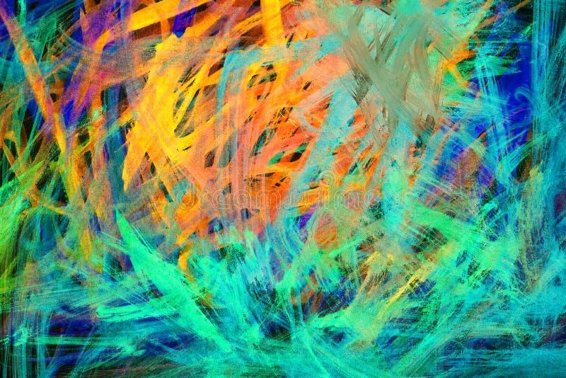 Абстрактный гранулированный, сплотчичный фон с неоновыми оттенками стоковое изображение rf