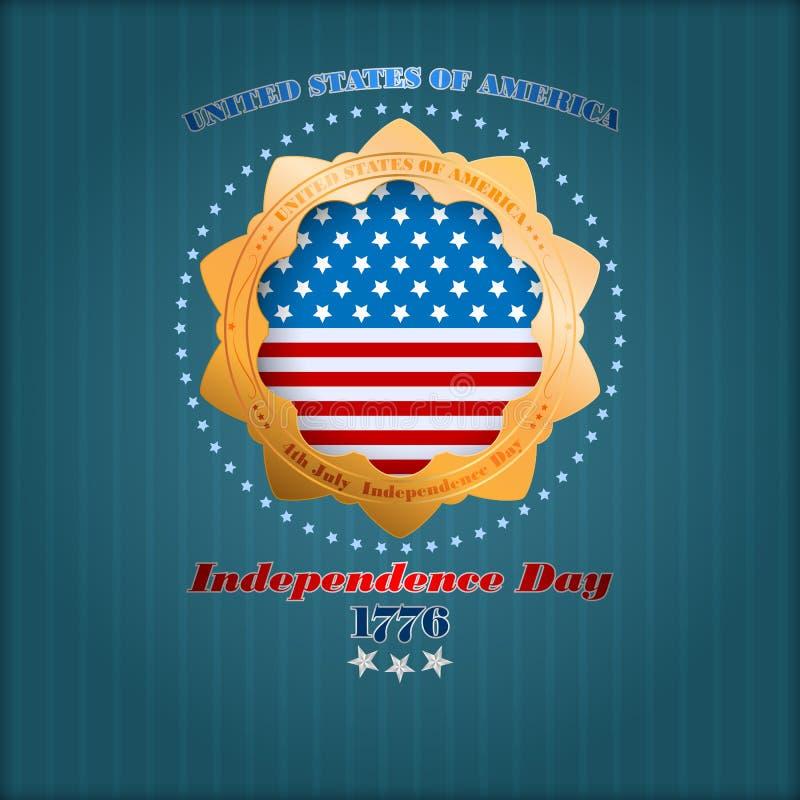 Абстрактный графический дизайн компьютера на четвертое -го июль, американский День независимости иллюстрация вектора