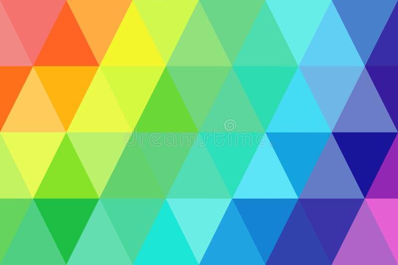 Абстрактный градиент радуги треугольников для предпосылки геометрический st стоковые изображения rf