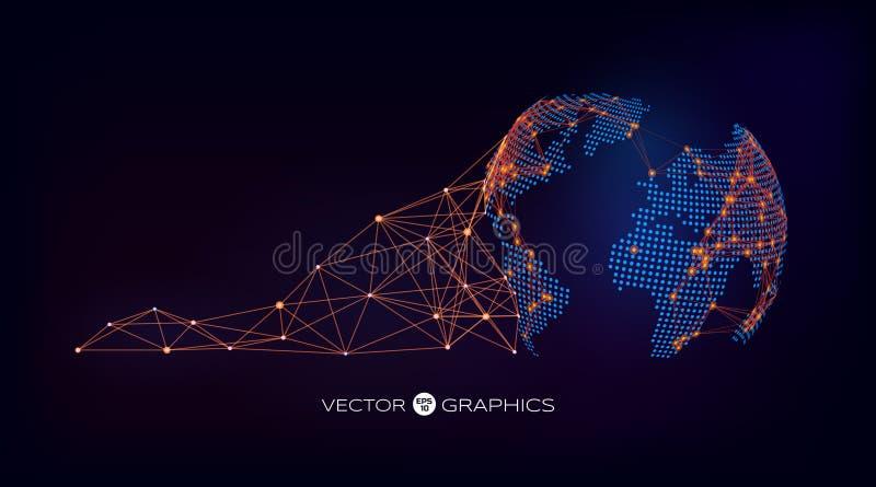 Абстрактный глобус вектора иллюстрация вектора