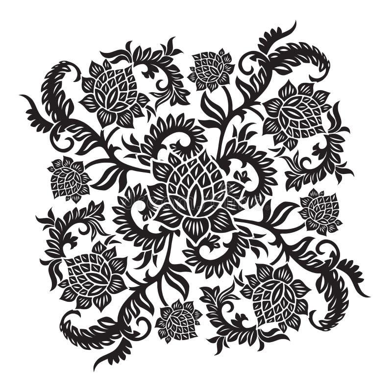 абстрактный декоративный вектор орнамента иллюстрации цветка иллюстрация штока