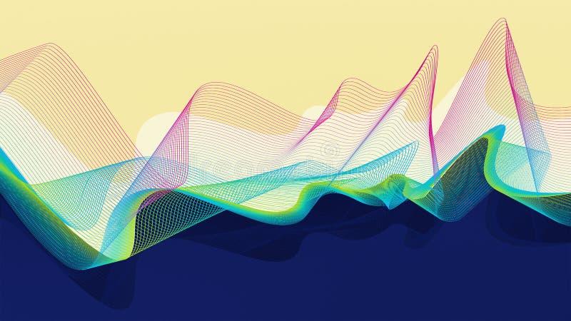 Абстрактный дизайн вектора - волны пламени иллюстрация штока
