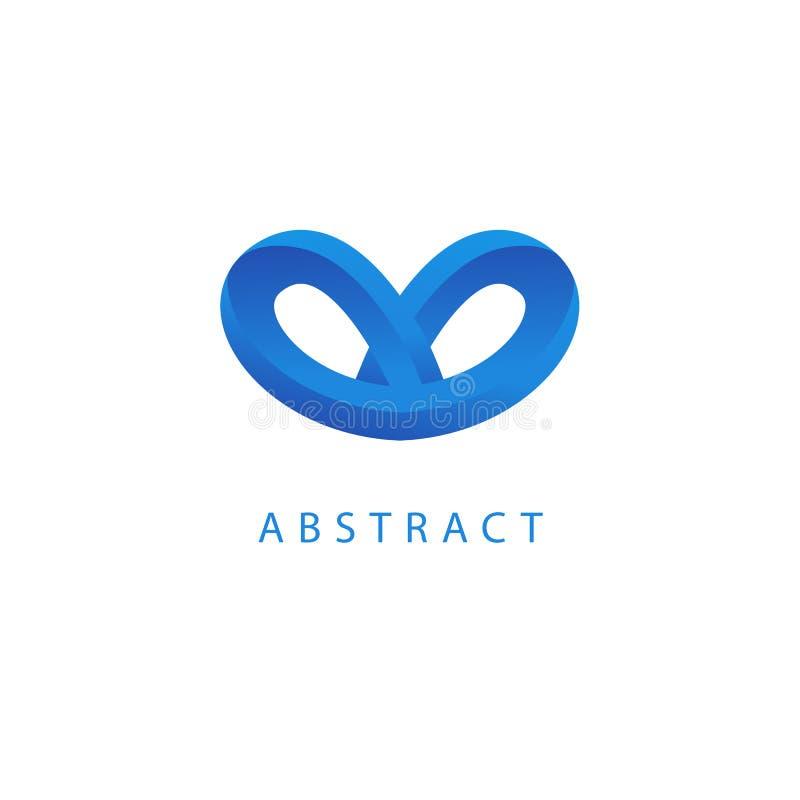 Абстрактный дизайн вектора логотипа vetor Знак для дела, компании связи интернета, цифрового агенства, маркетинга Современная дек бесплатная иллюстрация