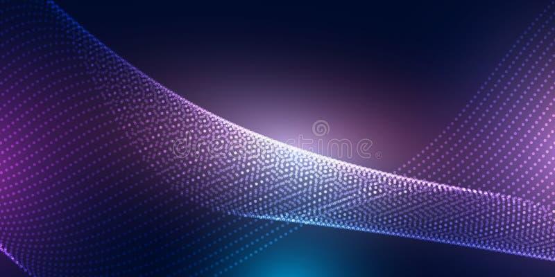 Абстрактный дизайн знамени с точками полутонового изображения иллюстрация штока