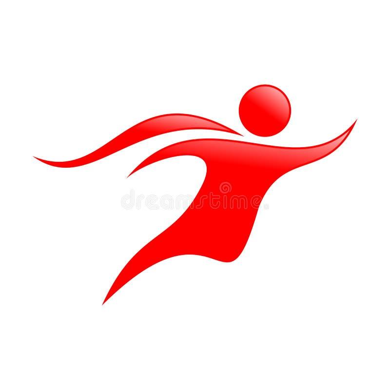 Абстрактный дизайн летая символа человека накидки иллюстрация штока
