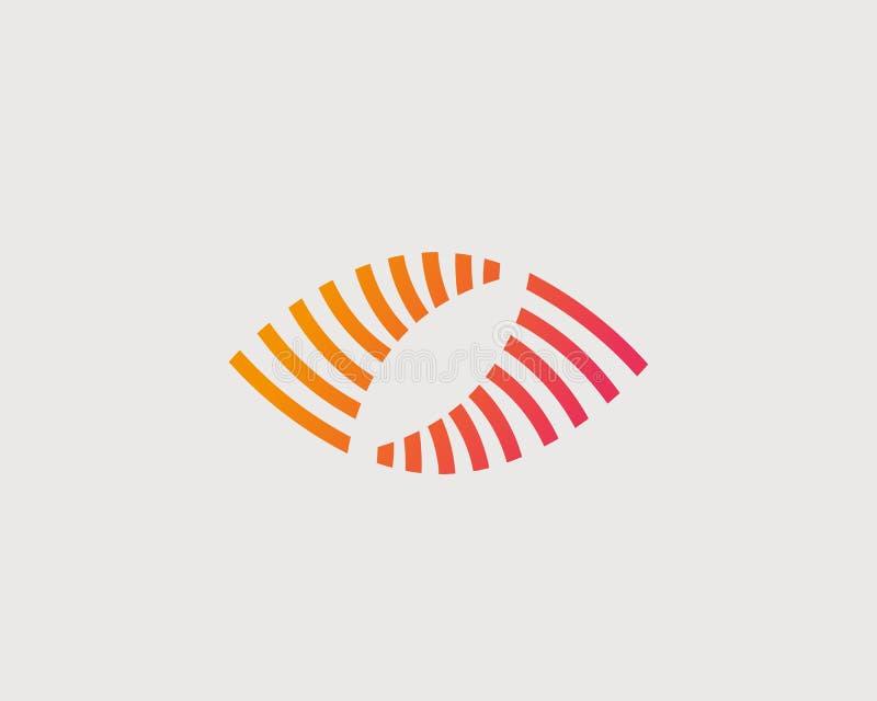Абстрактный дизайн логотипа вектора глаза Творческий символ средств массовой информации штарки камеры Логотип зрения управлением  иллюстрация штока