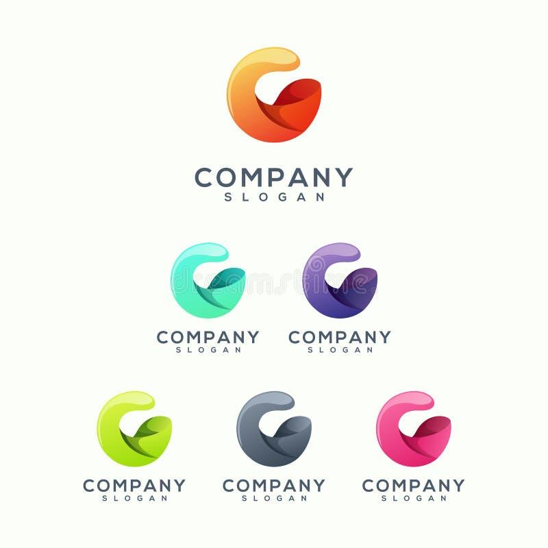 Абстрактный дизайн логотипа готовый для использования иллюстрация штока