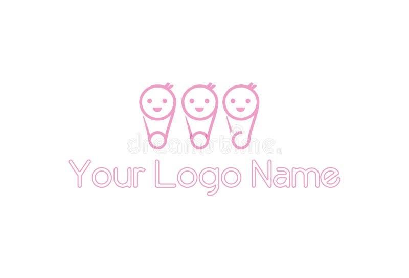 Абстрактный дизайн логотипа иллюстрация штока