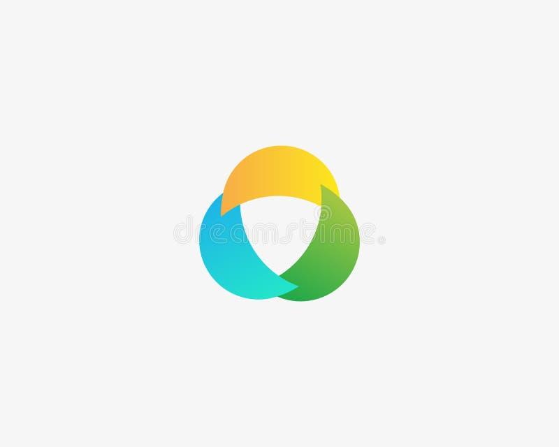 Абстрактный дизайн логотипа свирли Всеобщий логотип вектора иллюстрация вектора