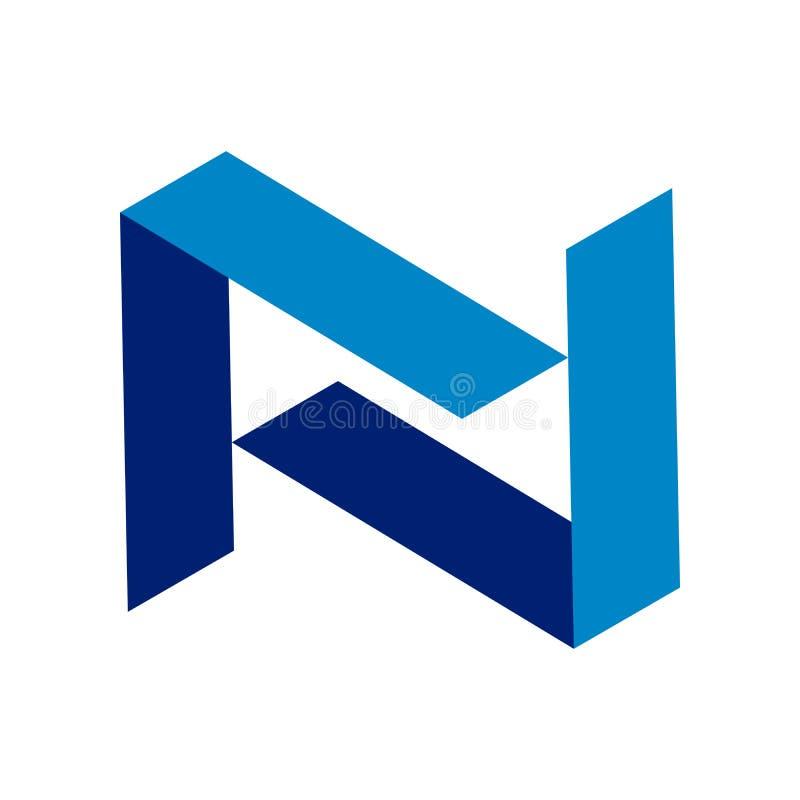 Абстрактный дизайн логотипа символа n инициала бесплатная иллюстрация