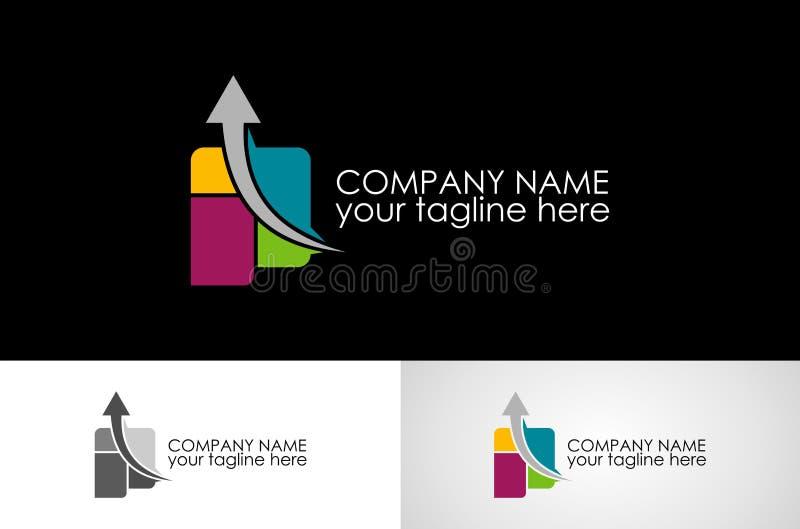 Абстрактный дизайн логотипа стрелки иллюстрация штока