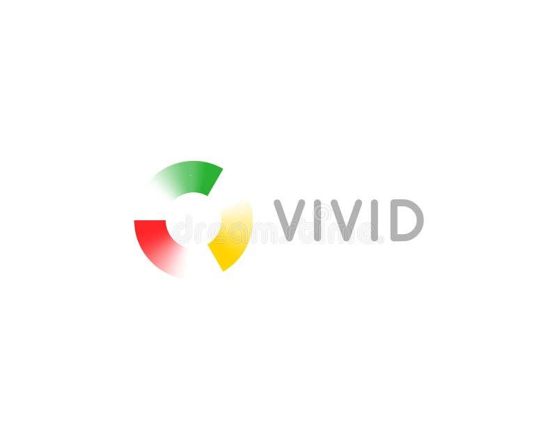 Абстрактный дизайн логотипа точек свирли круга Всеобщий логотип вектора цвета иллюстрация вектора