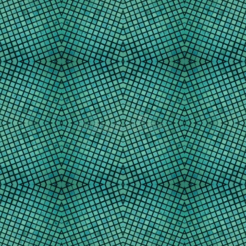абстрактный дизайн с небольшими частями стекла в аквамарине, предпосылке и текстуре бесплатная иллюстрация