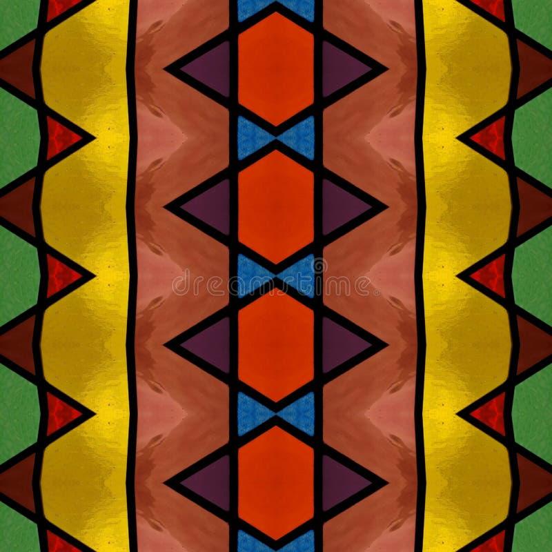 абстрактный дизайн с цветным стеклом в различных цветах, предпосылке и текстуре бесплатная иллюстрация