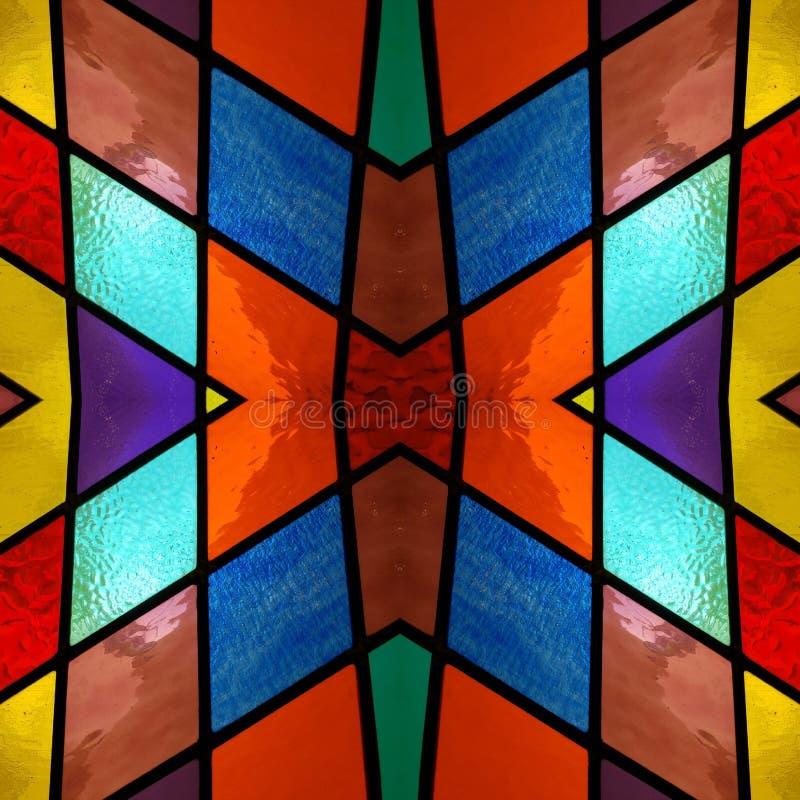 абстрактный дизайн с цветным стеклом в различных цветах, предпосылке и текстуре иллюстрация вектора