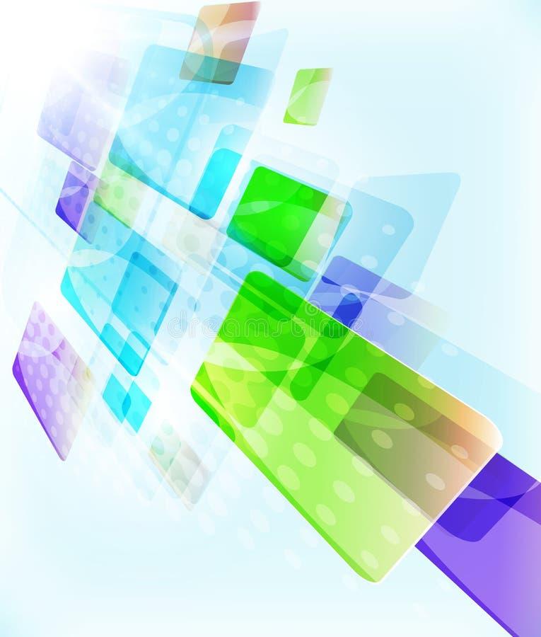 Абстрактный дизайн шаблона блоков - падающ вниз простые геометрические формы на светлой покрашенной предпосылке, прямых линиях и  иллюстрация штока