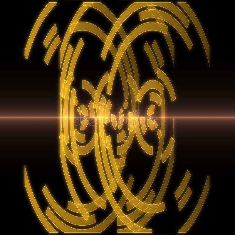 абстрактный диск иллюстрация штока