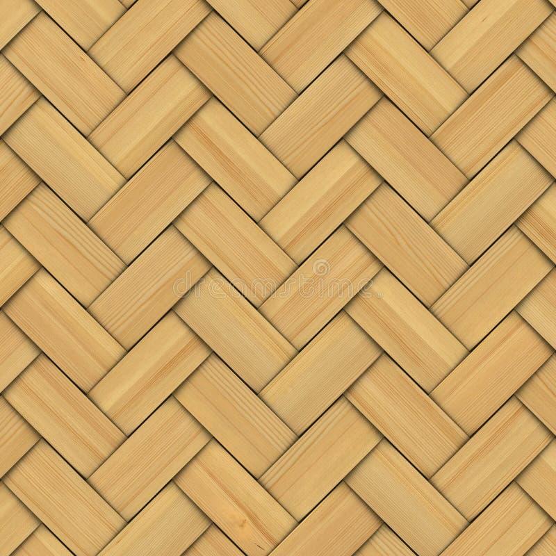 Абстрактный декоративный деревянный текстурированный соткать корзины иллюстрация вектора
