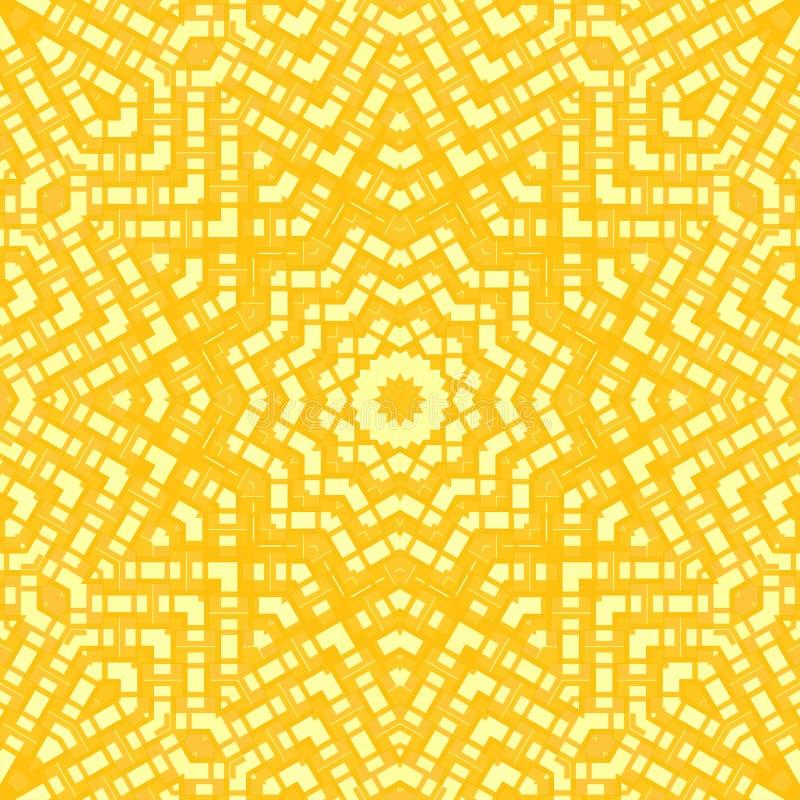 Абстрактный желтый цвет орнамента звезды иллюстрация вектора